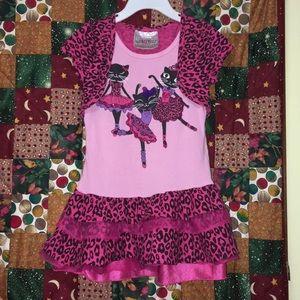 Pink Ballerina Cats Dress